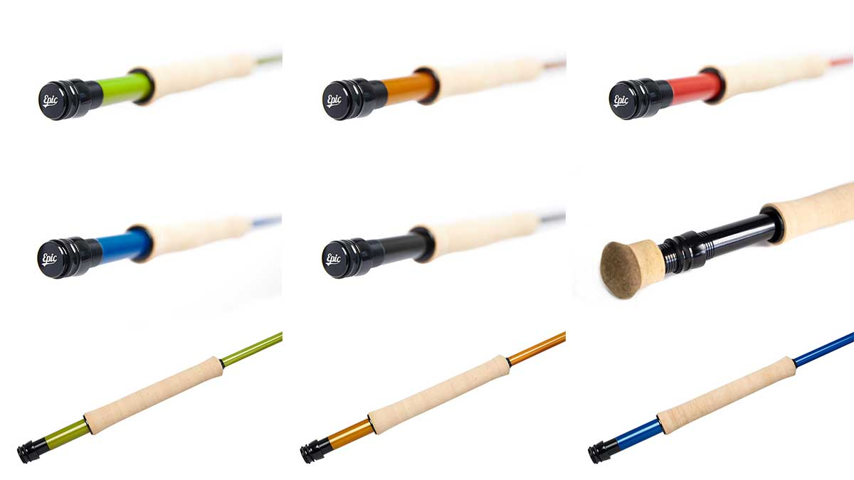 Fly Rod budding custom fly rod reel seat inserts available in Epic ready to wrap fly rod building kits