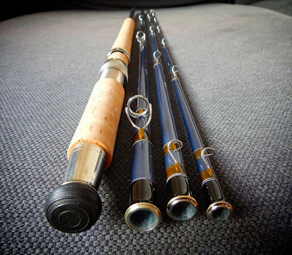Two handed fibreglass spey rod Epic