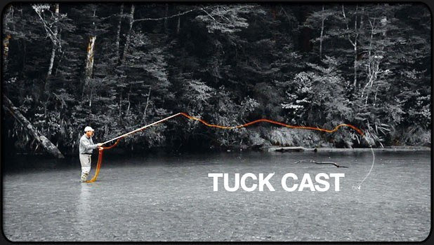 Fly casting the tuck cast