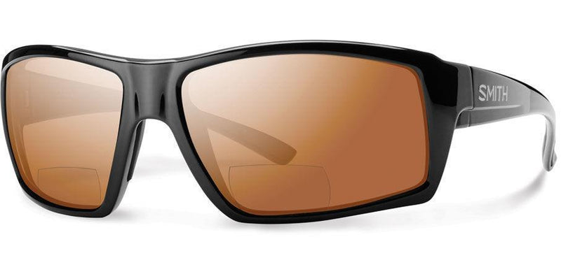 Sunglasses Frame: Black Lens: Carbon ic Polarised Copper Mirror 2.50 Challis Bifocal