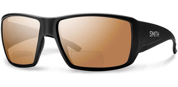 Sunglasses Frame: Matte Black Lens: Carbonic Pola r Copper Mirror +2 50 Guides Choice - Bifocals