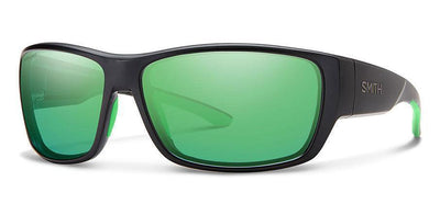 Sunglasses Frame: Matte Black Lens: Carbonic Polarized Green Mirror Forge