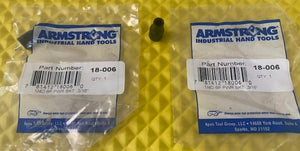 "Armstrong 18-006 1/4"" Drive 3/16"" Impact Socket 6 Point 2pcs USA"