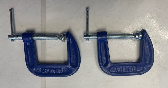 IRWIN 1901231 C-Clamp 1 1/2 Inch Blue 2pcs.