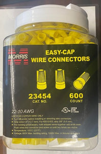 Morris Products 23454 Easy-Cap Wire Connectors Yellow 600pcs.