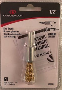 "Carborundum 38627 1/2"" End Brush 1/2"" x .020"" x 1/4"""