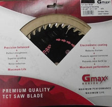 "Gmaxx 2400.725A40 7-1/4"" 40 Tooth Carbide Tip Plywood Circular Saw Blade"