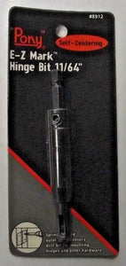 "Pony E-Z Mark 8912 11/64"" Self Centering Hinge Drill Bit"