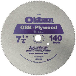 Oldham B725P Saw Blade OSB Plywood 140 Tooth Steel