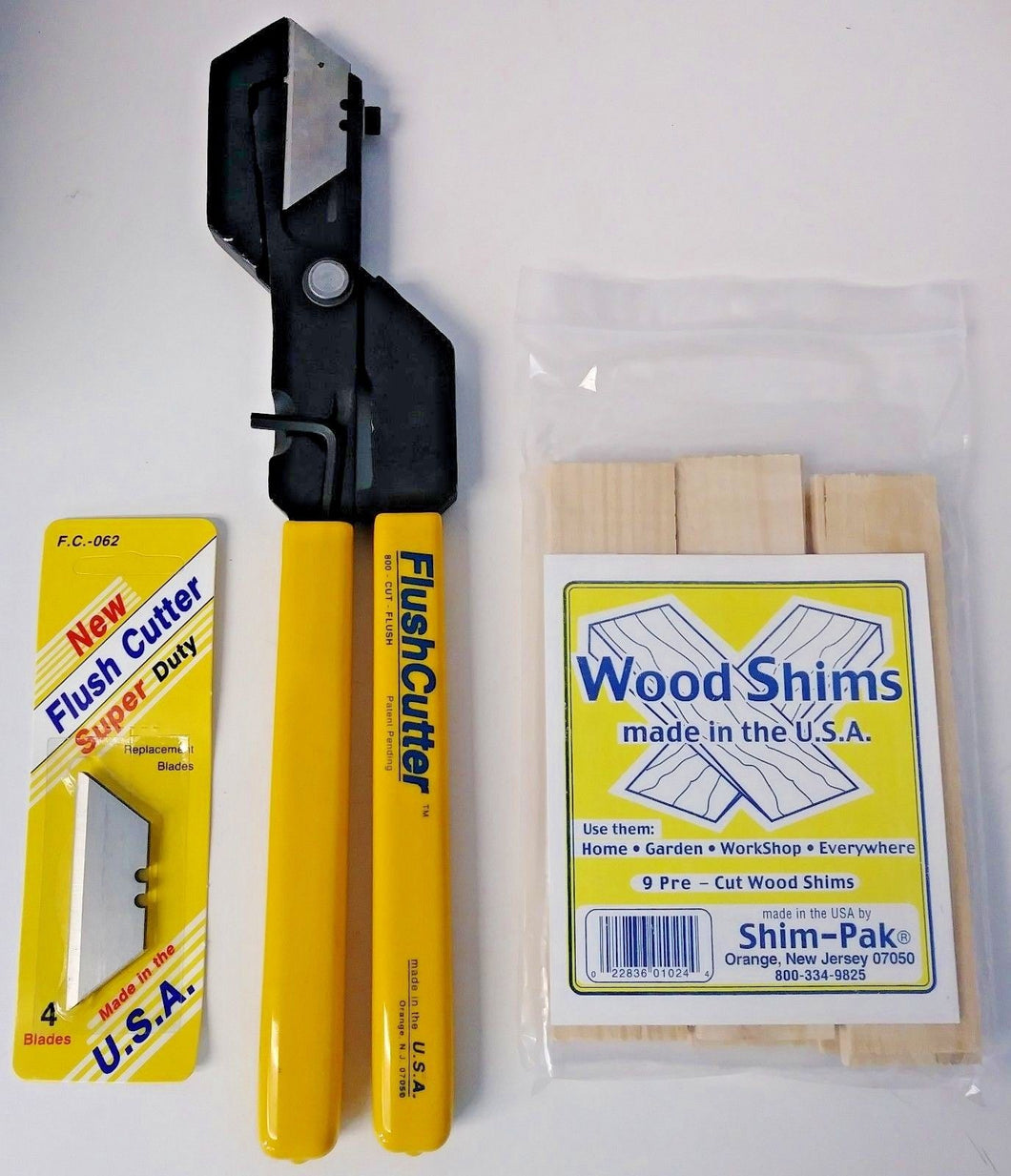 Flush Cutter 06294 Wood Shim Cutter With 9 Shims 01024 & 4 Blades 062 USA