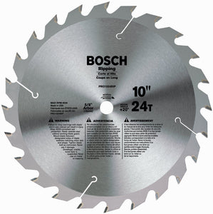 "Bosch PRO1024RIPB 10"" x 24 Tooth Carbide Ripping Circular Saw Blade"