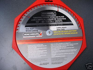 "Benchmark 1350-647 10"" x 60 Tooth Combo Saw Blade"