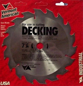 "Vermont American 26880 7-1/4"" x 18 Tooth Carbide Saw Blade"