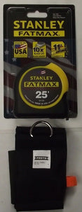 "Stanley 33-725 Fatmax Tape Measure Blade Armor 25' x 1-1/4"" & Proto Sleeve"