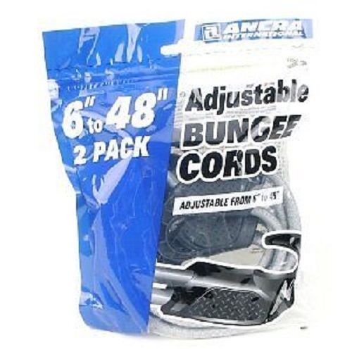 Ancra 95720 Adjustable Bungee Cords, Gray, 2-Pack, 6-to-48-Inch