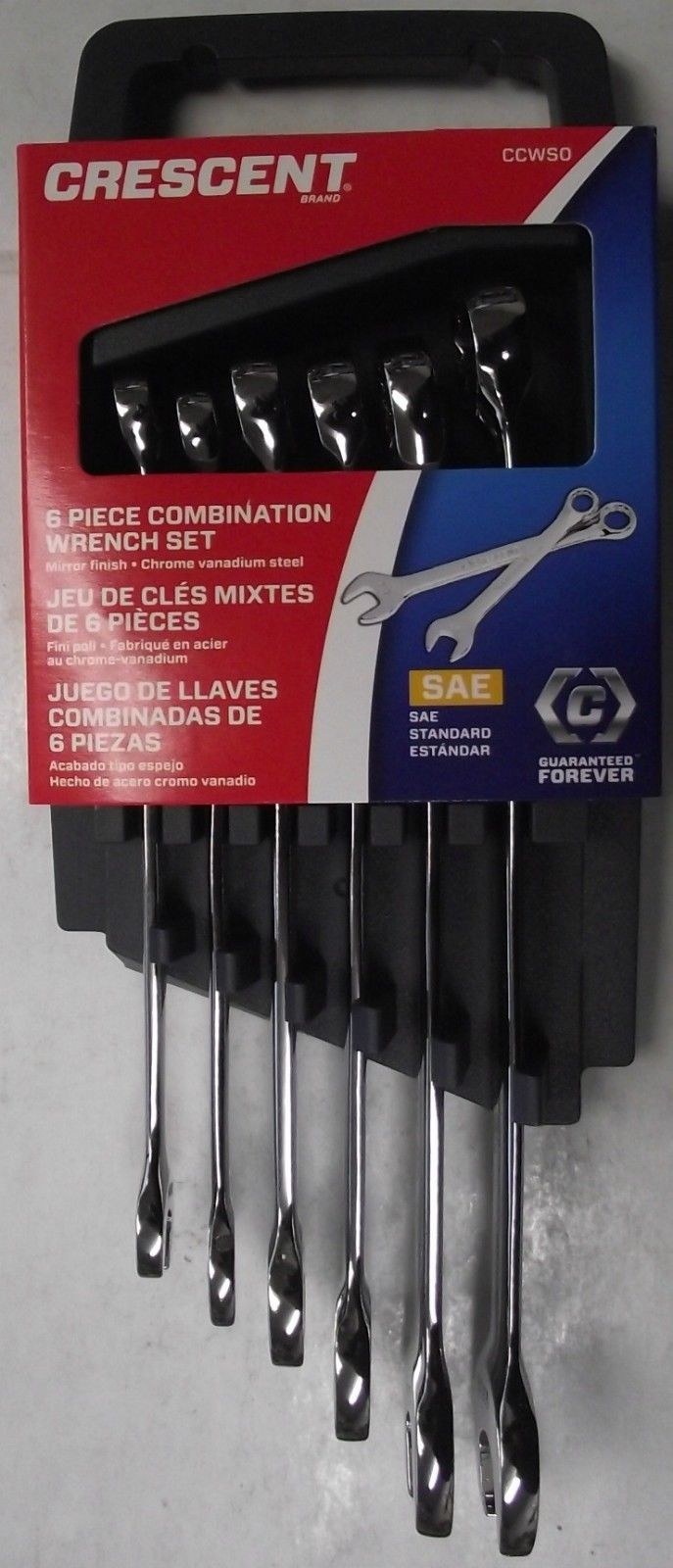 Crescent Brand CCWS0 6 Pc SAE Combination Wrench Set