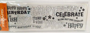 Fiskars 01-005573 Clear Stamp Continuous Birthday Type