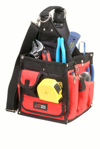 Genau Gear 9174 Square Maintenance Tool Holder Bag 17 Pockets Black / Red