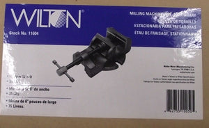 "Wilton 11604 Milling Machine Vise Stationary 6"" Jaw Width"