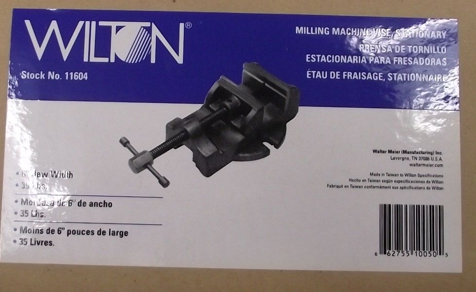 Wilton 11604 Milling Machine Vise Stationary 6