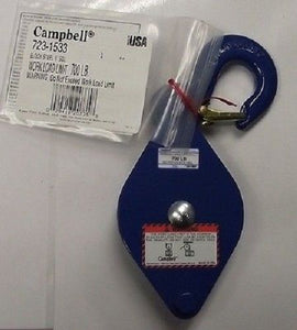 Campbell 723-1533 3 Inch Single Wheel Steel Block USA 700lb.