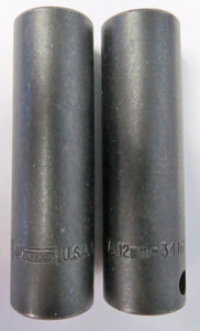 "Allen 34162 3/8"" Drive 12mm 6pt. Deep Impact Socket USA 2PCS"