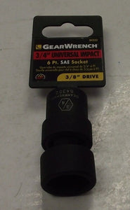 "Gearwrench 3/4"" Universal Impact Socket 3/8"" Drive 6pt 84352"