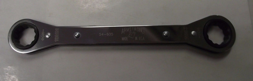 Armstrong 54-605 12 Point Ratcheting Box Wrench 19 x 21mm USA