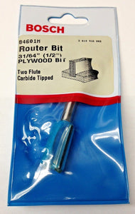 "Bosch 84601M 31/64"" (1/2"") Two Flute Carbide Tipped Plywood Router Bit USA"