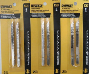"DEWALT DW3755H2 4"" 8 TPI HCS Jig Saw Blades 3-2 Packs"