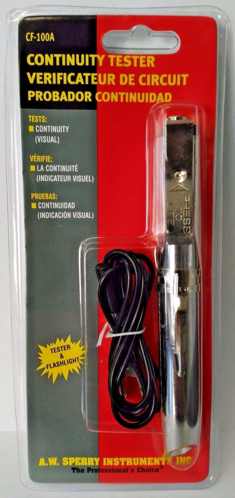 A.W. Sperry CF-100A Flashlight Continuity Tester