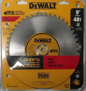 "Dewalt DWA7948 9"" x 48 Tooth Metal Cutting Circular Saw Blade USA"