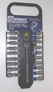 "Kobalt  22353 21-Piece 1/4"" Flex Thru Ratchet Set"