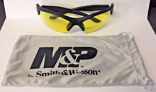 Smith & Wesson MP104-41-ID Half Frame Shooting Glasses With Amber AF Lens, Black