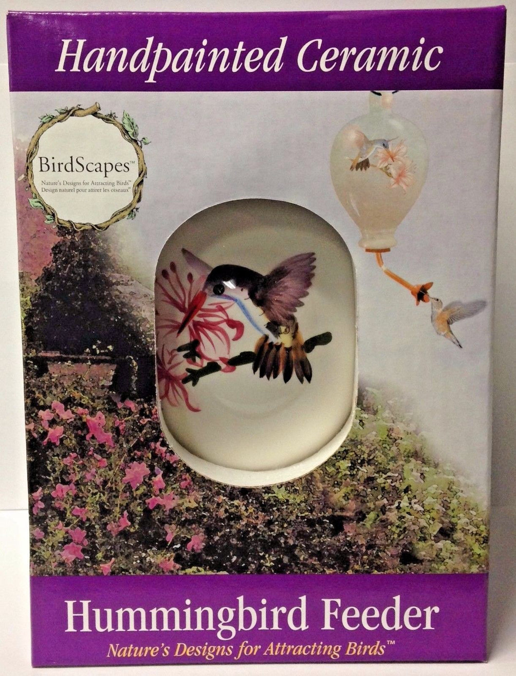 Birdscapes 272 Handpainted Ceramic Humming Bird Feeder