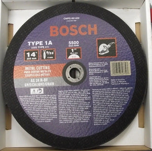 "Bosch CWPS1M1400 14"" x 5/32"" x 1"" Arbor Metal Cutting Wheel 10pcs. Germany"