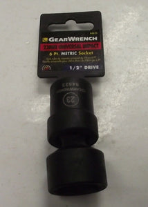 "Gearwrench 84623 23mm 1/2"" Drive 6pt Universal Impact Socket"