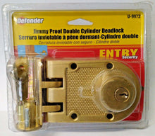 Defender Security Jimmy Proof Double Cylinder Deadlock U-9972