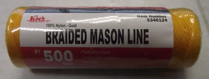 Koch Industries 5340124 Nylon Braided Gold Mason Line #1 By 500 Feet