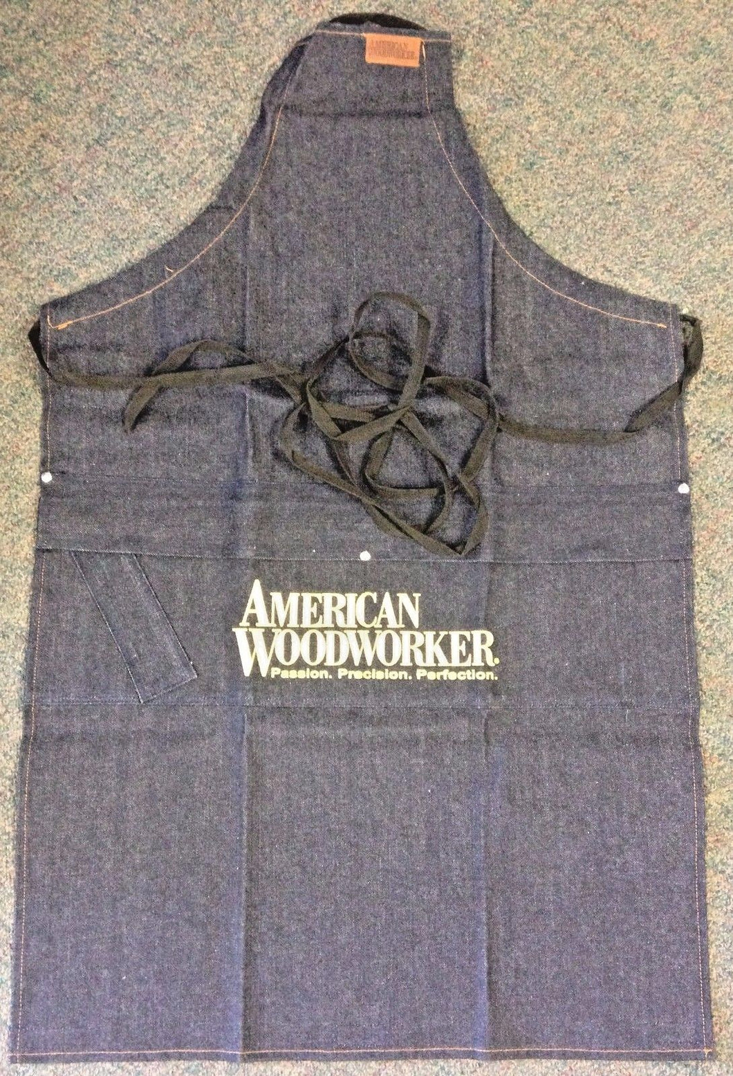 American Woodworker 125 2 in 1 Carpenter Shop Apron Denim 25