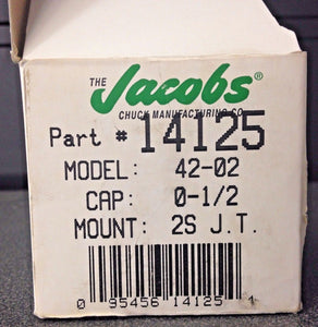 "Jacobs 14125 42-02 Tap Chuck With Tap Capacity 5/16"" And #2 Short Jacobs Tap USA"