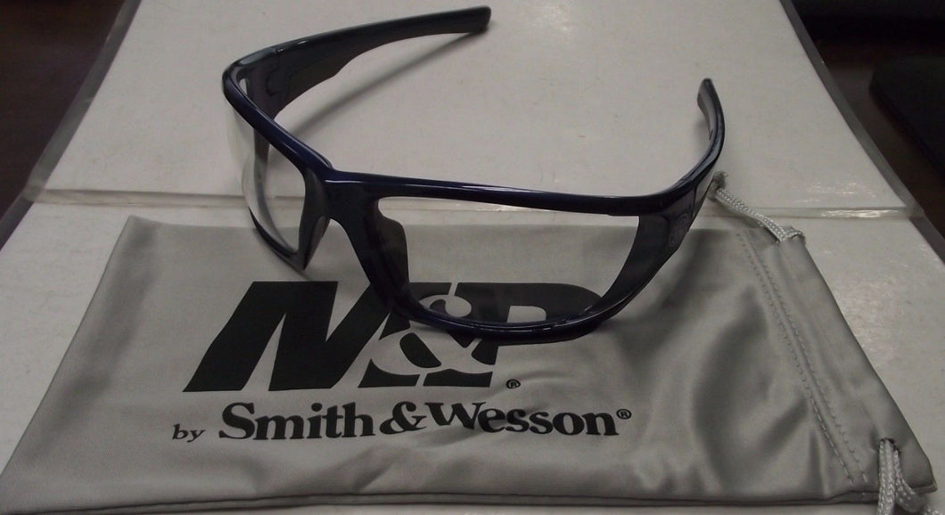 Smith & Wesson SW101-10-ID Shooting Glasses Blue Frame Clear