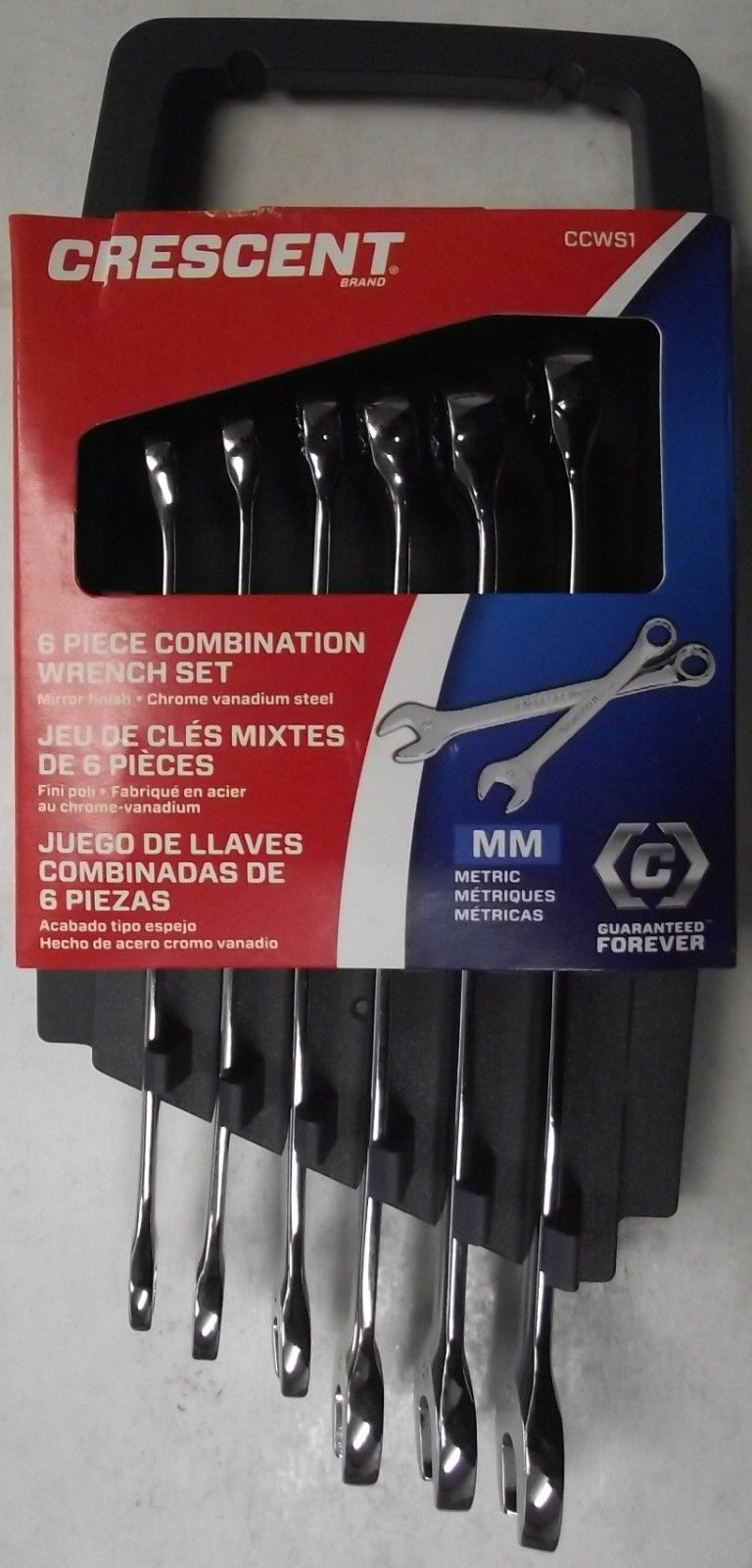 Crescent CCWS1 6pc. Metric Combination Wrench Set 12pt.