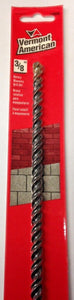 "Vermont American 14056 3/8"" x 18"" Double Flute Rotary Masonry Drill Bit"