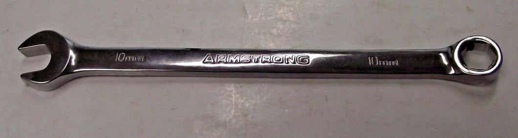 Armstrong 52-310 10mm Full Polish Long Pattern Combination Wrench 6 Point USA