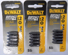 Dewalt DW2002IR5 #2 Phillips Bit Tips Impact Ready (3) 5 Packs