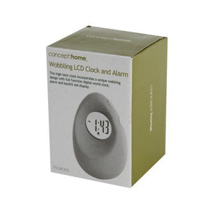 Concept Home Wobbling LCD Alarm and Clock THLWC01S