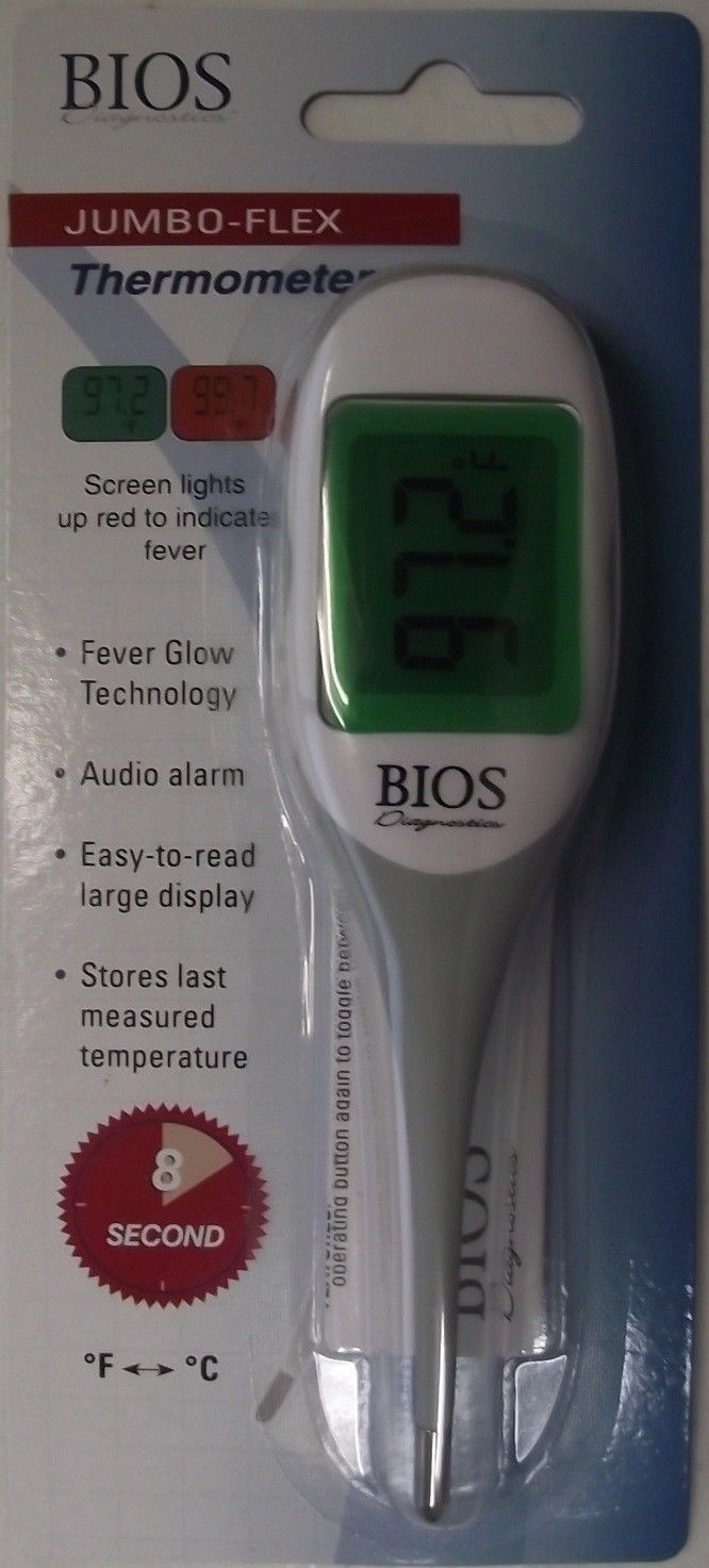 BIOS 192DU Jumbo-Flex Thermometer Fever Glow Technology