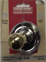 Taymor 02-D7901CB Maxwell Single Robe Hook Polished Chrome Polished Brass