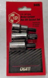 KD Tools 3405 Brake Caliper Hex Bit Socket Set USA
